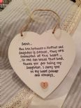 Shabby Personalised Chic Special Daughter.. Mum Hanging Heart Gift Any Names